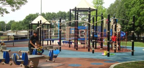 Come out and enjoy the playground at Rosedale Park.