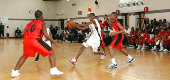 Teens: play ball for free on Friday & Saturday nights as part of the Inner City Hoops program.